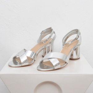 52c0ba4de0c New Look Silver Block Heel Sandal